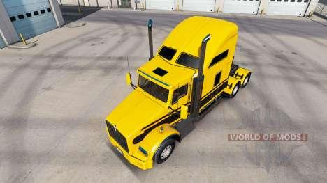 Skin Stripes v5.0 tractor Kenworth T800 for American Truck Simulator