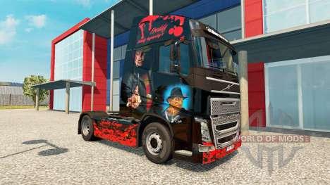 Freddy Krueger skin for Volvo truck for Euro Truck Simulator 2