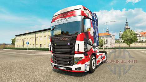 Skin USA on tractor Scania R700 for Euro Truck Simulator 2