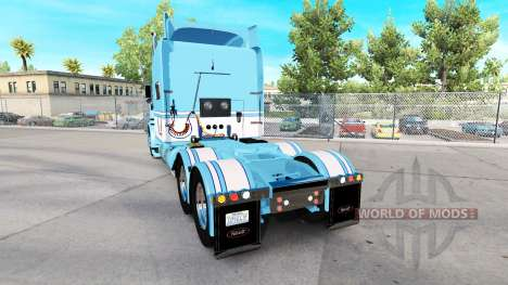 Skin Light Blue-White for the truck Peterbilt 38 for American Truck Simulator