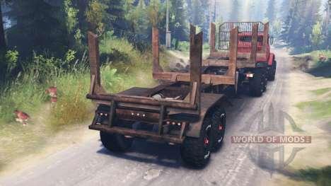KrAZ-64372 for Spin Tires