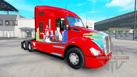Skin Rias Gremory on a Kenworth tractor for American Truck Simulator