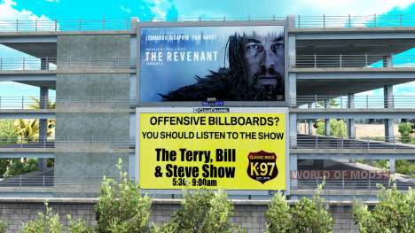 The USA is on billboards for American Truck Simulator