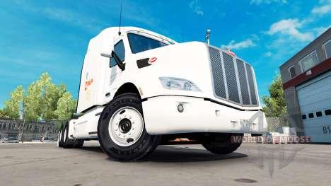 Alsua skin for the truck Peterbilt for American Truck Simulator