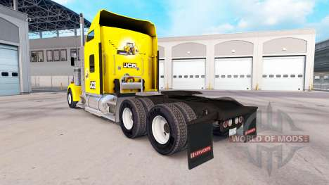 Skin JCB tractor Kenworth W900 for American Truck Simulator