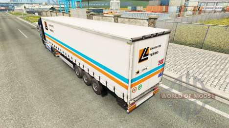 Skin Linjegods on the trailer for Euro Truck Simulator 2