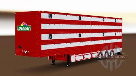 Semi-trailer cattle truck for Euro Truck Simulator 2