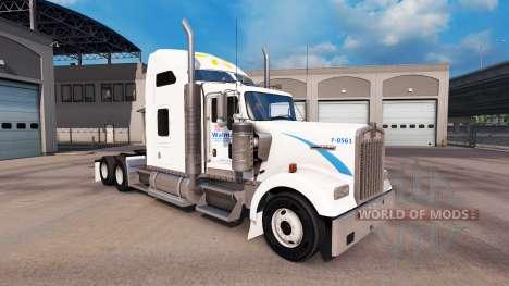 Skin Walmart on the truck Kenworth W900 for American Truck Simulator