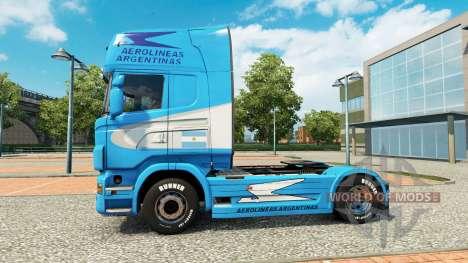 Aerolineas Argentinas skin for Scania truck for Euro Truck Simulator 2