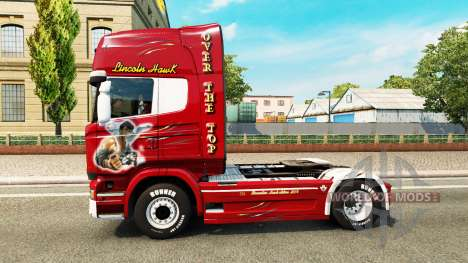 Skin Hawk Edition tractor Scania for Euro Truck Simulator 2