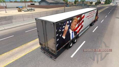 Skin Trump on the trailer for American Truck Simulator