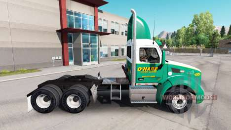Skin OHare Towing for trucks and Peterbilt Kenwo for American Truck Simulator