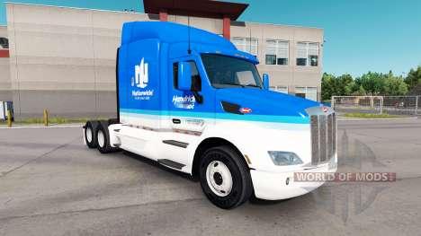 Nationwide skin for the truck Peterbilt for American Truck Simulator