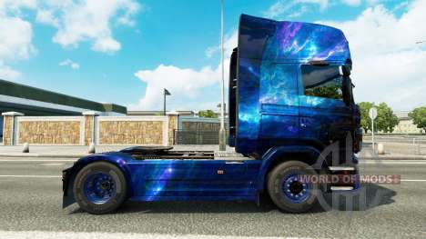 Cool Space skin for the truck Scania for Euro Truck Simulator 2