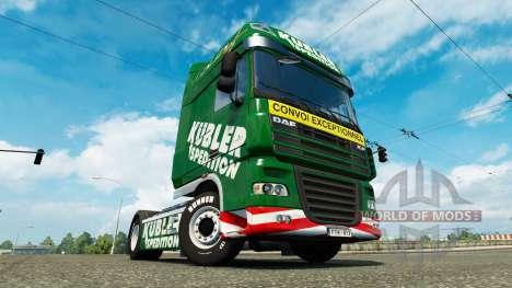 Kubler Spedition skin for DAF truck for Euro Truck Simulator 2