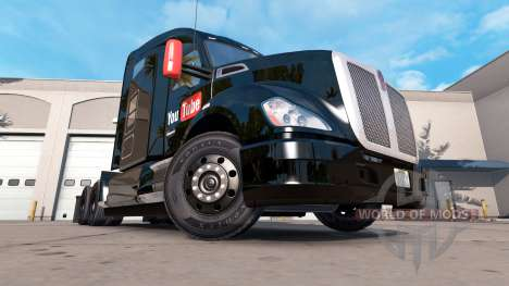 Skin YouTube on a Kenworth tractor for American Truck Simulator