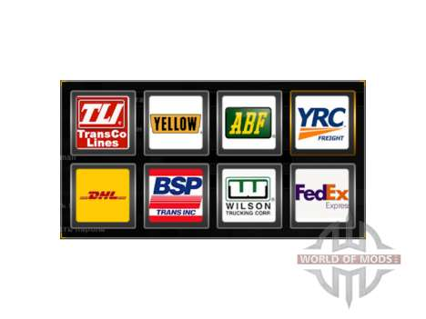 The logos of the freight companies USA for American Truck Simulator