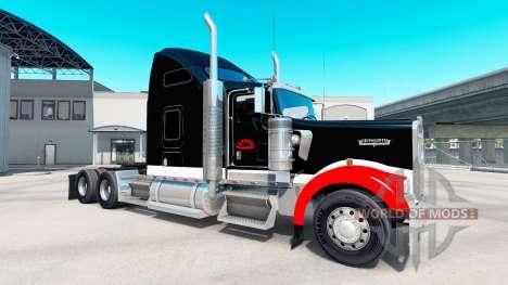 Skin Netstoc Logistica on the truck Kenworth W90 for American Truck Simulator