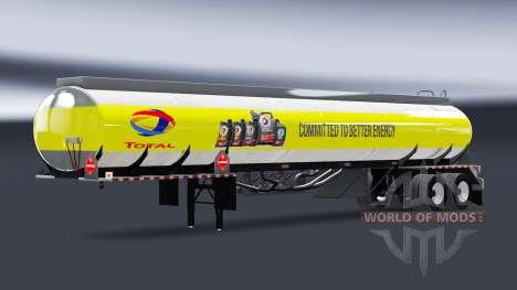 Skins fuel companies for semi-trailers tanks for American Truck Simulator