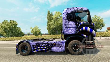 Blue Ladder skin for Scania truck for Euro Truck Simulator 2