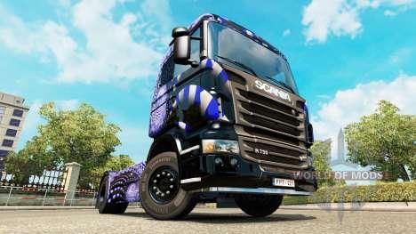 Blue Ladder skin for Scania truck for Euro Truck Simulator 2