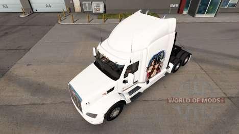 Gangster Girl skin for the truck Peterbilt for American Truck Simulator