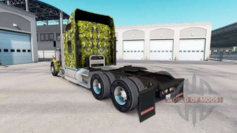 The skin Army Camo on the truck Kenworth W900 for American Truck Simulator
