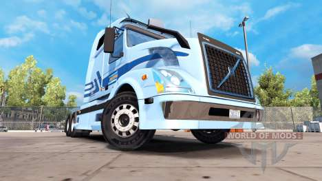 Skin for Werner Enterprises tractor Volvo VNL 67 for American Truck Simulator