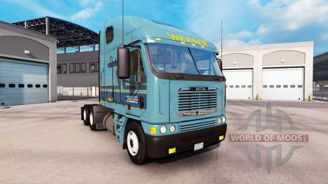 Skin Werner at the truck Freightliner Argosy for American Truck Simulator