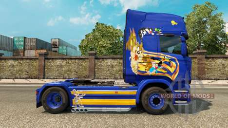 Looney Tunes skin for Scania truck for Euro Truck Simulator 2