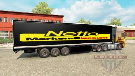 Skin Netto on the trailer for Euro Truck Simulator 2