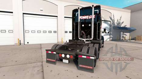 Skin Power Girl on tractor Kenworth for American Truck Simulator