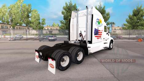 Scotland American skin for the truck Peterbilt for American Truck Simulator