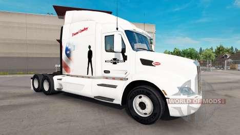 Diesel Cowboy skin for the truck Peterbilt for American Truck Simulator