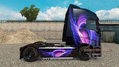 Skin Black & Purple on a Volvo truck for Euro Truck Simulator 2