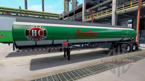 Logos are fuel companies on trailers for American Truck Simulator
