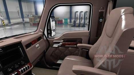 Luxury brown interior Kenworth T680 for American Truck Simulator