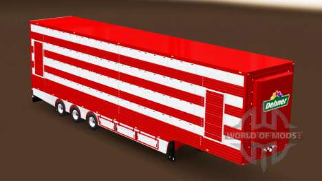Semi-trailer cattle truck for Euro Truck Simulator 2