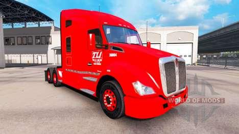 Skin Transco Lines on trucks and Peterbilt Kenwo for American Truck Simulator