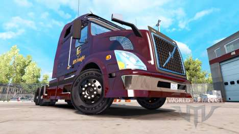 UPS skin for Volvo VNL 670 truck for American Truck Simulator