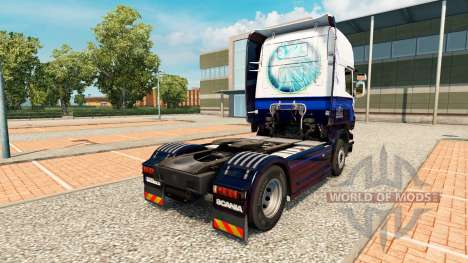 Skin Blue V8 Scania truck for Euro Truck Simulator 2