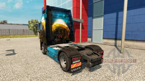 Planet skin for Volvo truck for Euro Truck Simulator 2