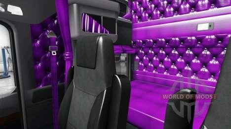 Purple interior Kenworth W900 for American Truck Simulator