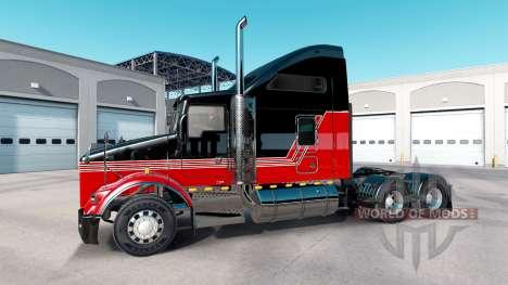 Skin Stripes v3.0 tractor Kenworth T800 for American Truck Simulator