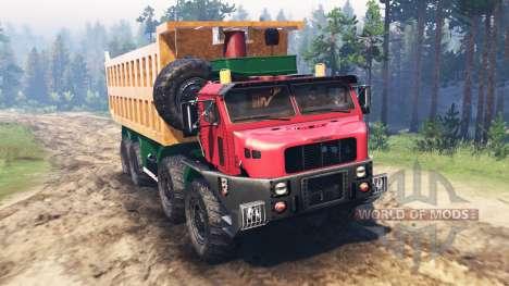 Oshkosh M1050 for Spin Tires
