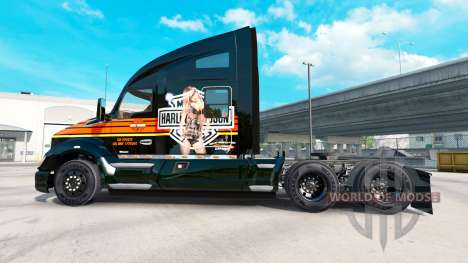 Skin Harley-Davidson on a Kenworth tractor for American Truck Simulator