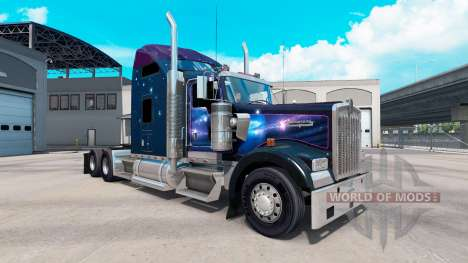 Skin Falling Star on the truck Kenworth W900 for American Truck Simulator