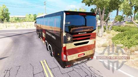 Skin USA on the tractor Mascarello Roma 370 for American Truck Simulator