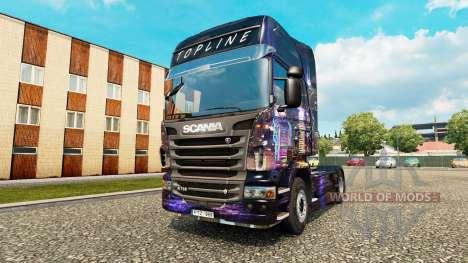 Skyline skin for Scania truck for Euro Truck Simulator 2