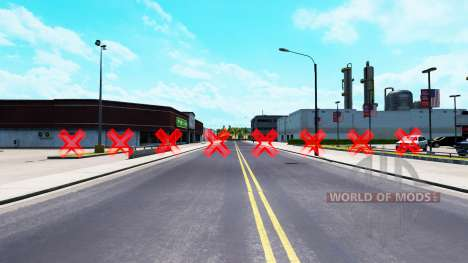 Red barriers for American Truck Simulator